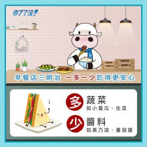 【 早餐店三明治 多蔬菜 少醬料 吃得更安心】